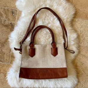 Fossil Convertible Tweed and Leather Purse